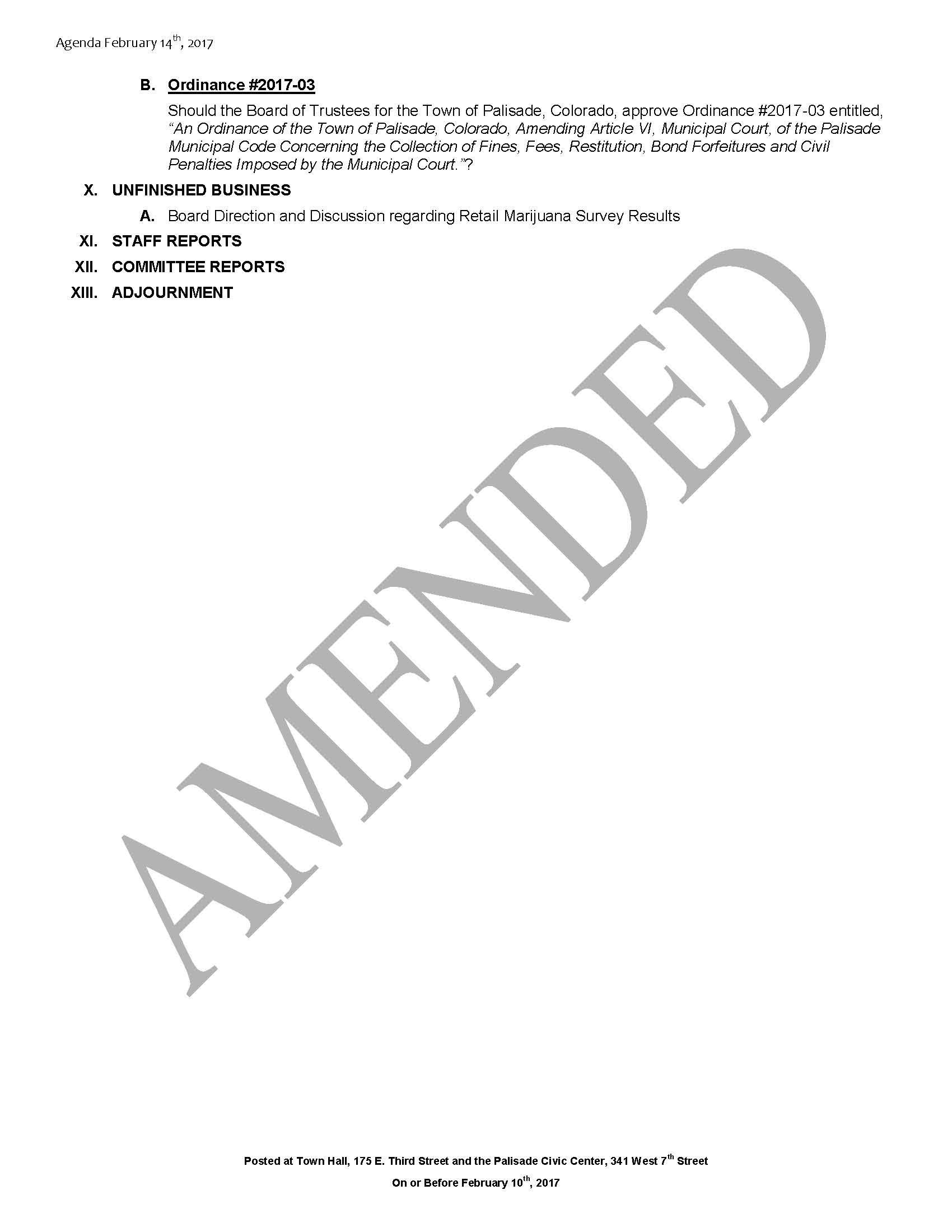 February 14th 2017 Board Meeting Agenda Amended Page 2