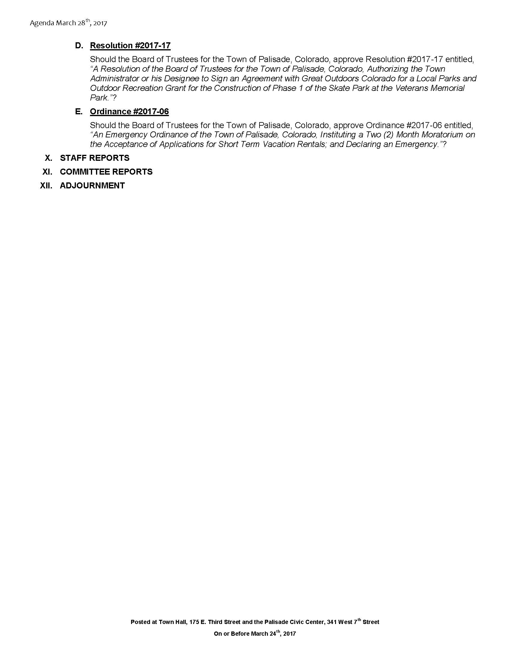 March 28th 2017 Board Meeting Agenda Page 2