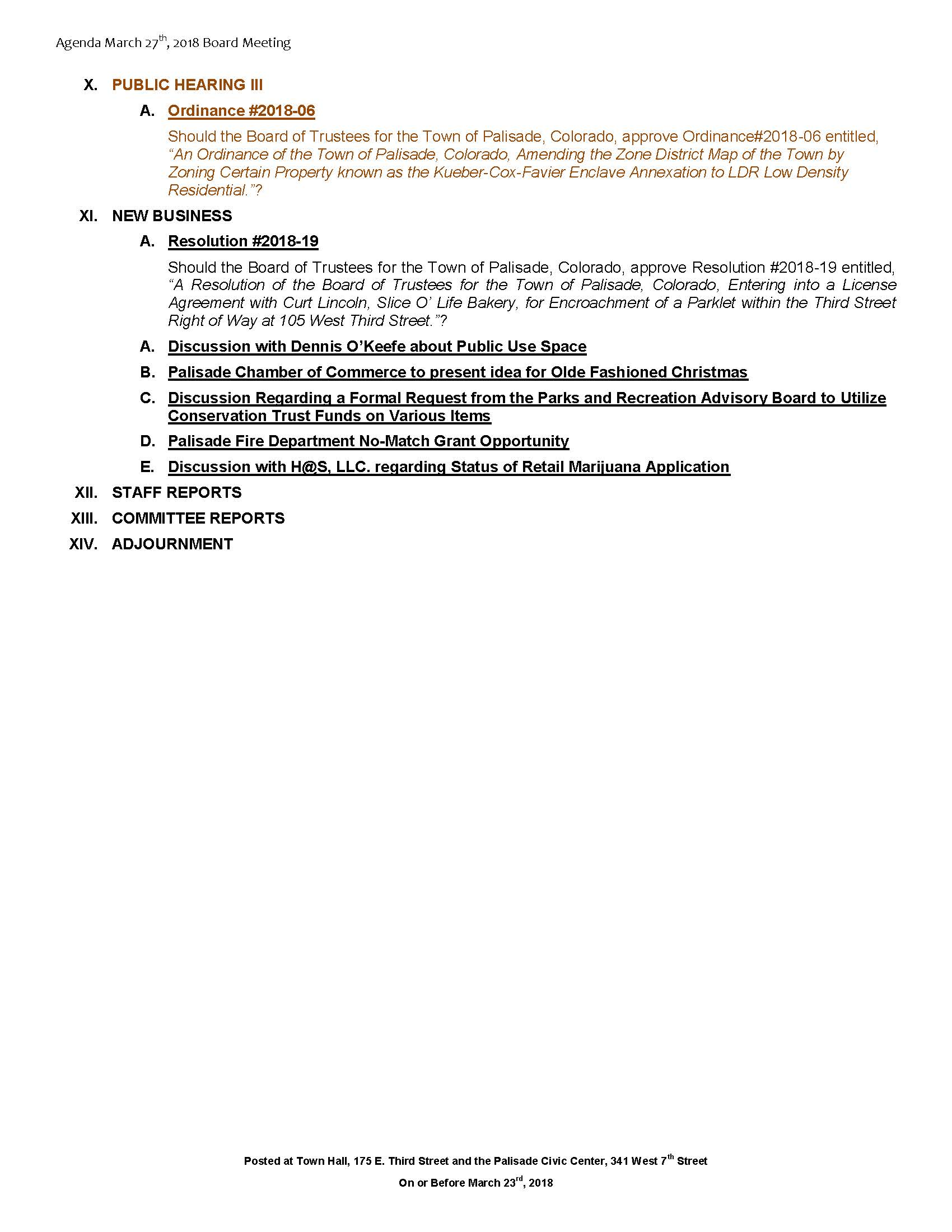 March 27th 2018 Board Meeting Agenda Page 2