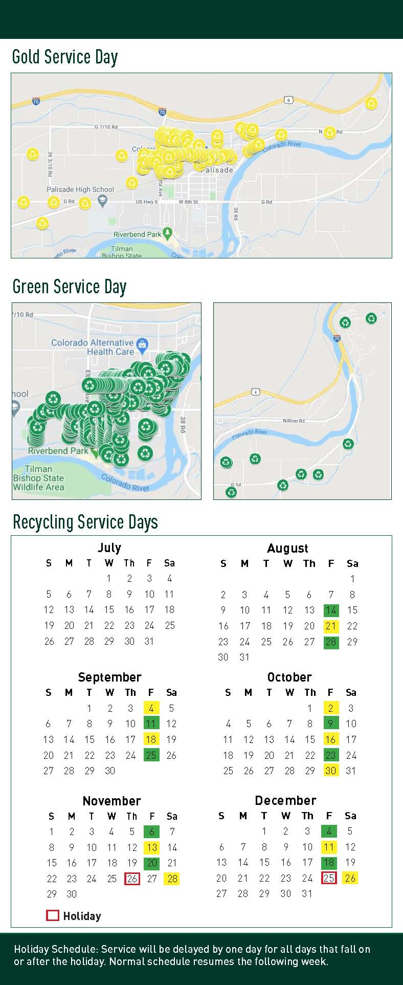 2020 Palisade Recycling Service Change Bin Card Page 2