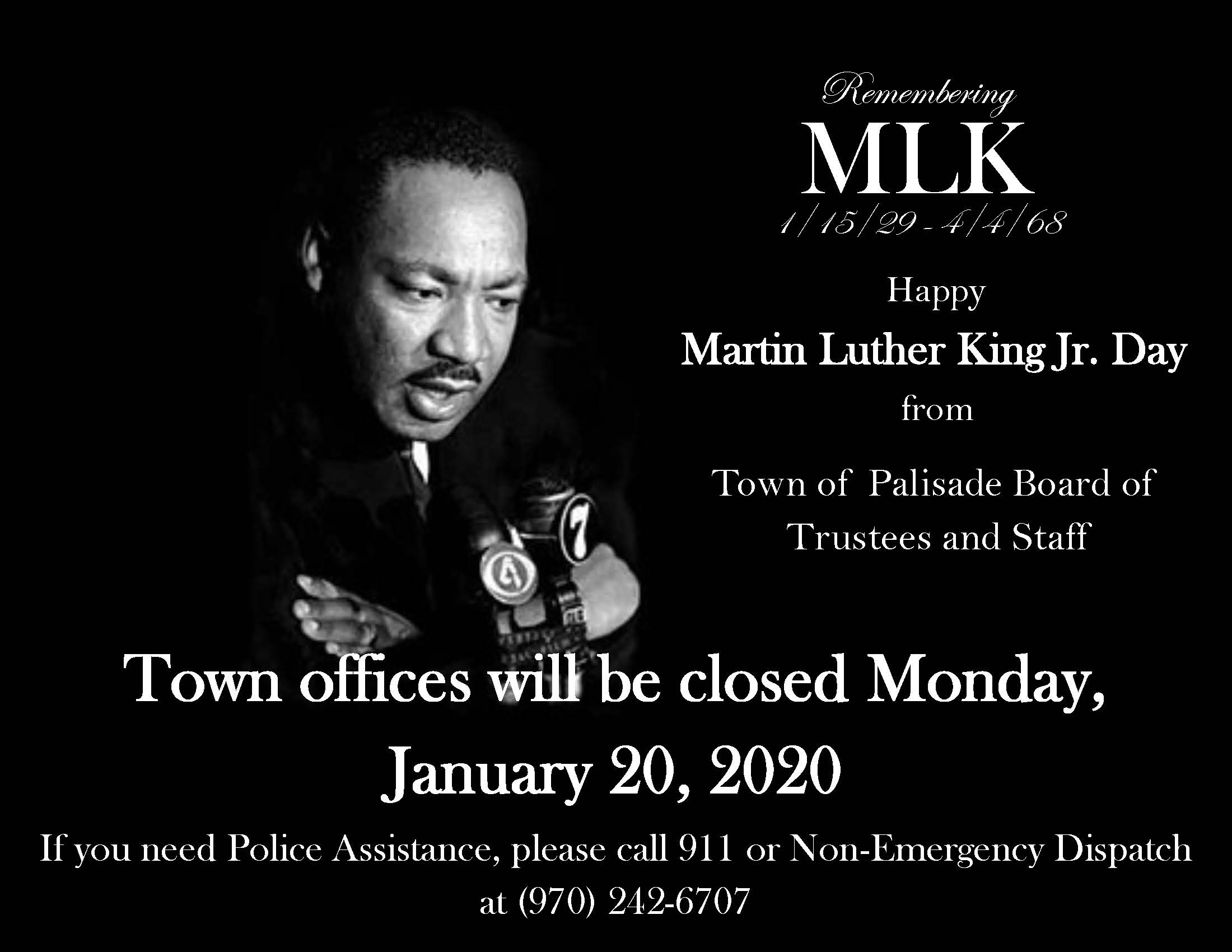 Closed for MLK Day
