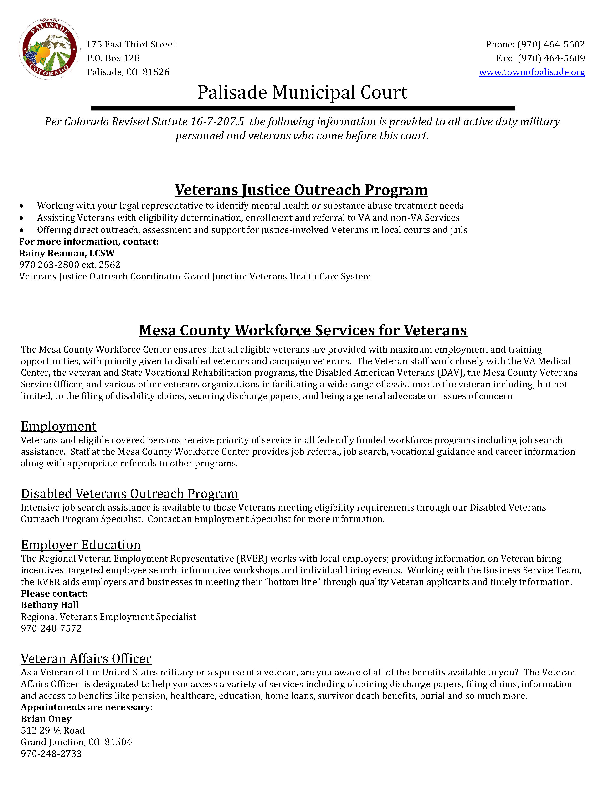Veteran Resources Page 1
